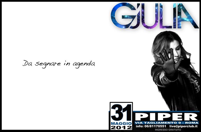 Gjulia: da Londra al Piper club