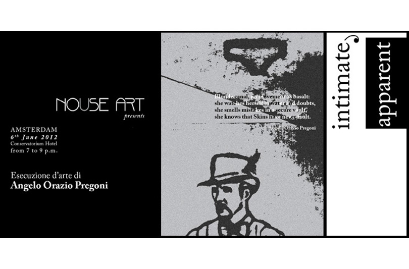 """""""intimate, apparent"""" Esecuzione d'Arte di Angelo Orazio Pregoni"""