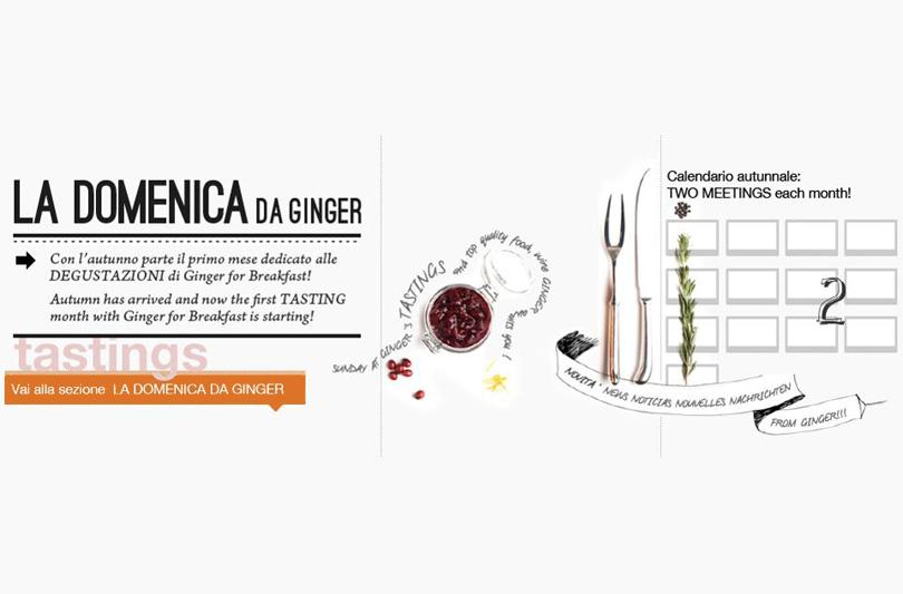 Dal 18 Novembre partono le degustazioni di Ginger for Breakfast