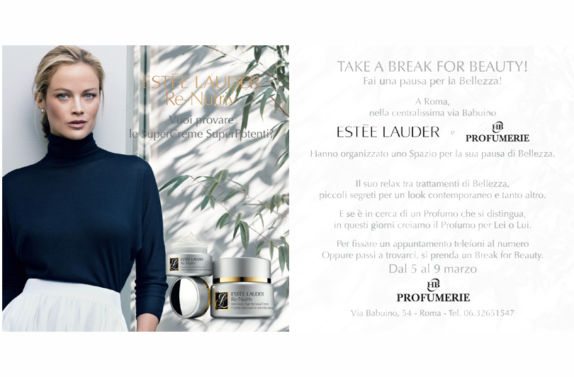 Take a break for beauty: il 5 Marzo a Roma una beauty experience firmata Estee Lauder