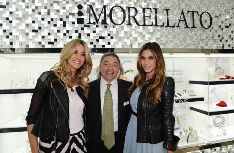Elena Santarelli e Melissa Satta madrine per l'apertura del nuovo store Morellato