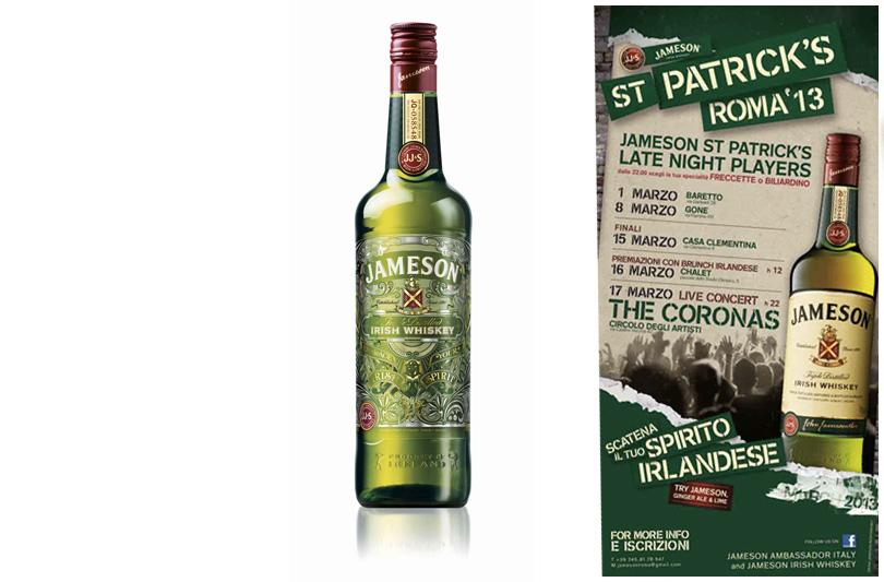 Freccette, biliardino e rugby: parte oggi il cocktail romano di Jameson per St.Patrick