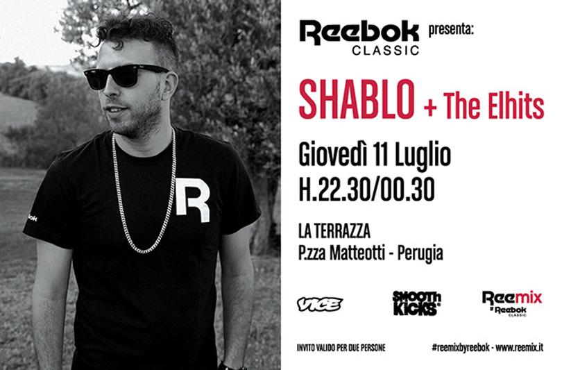 Reemix presenta: Shablo live l'11 Luglio a Perugia