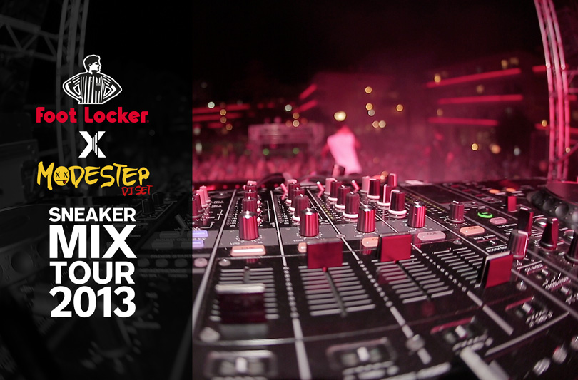 Foot Locker x Modestep Sneaker Mix Tour 2013