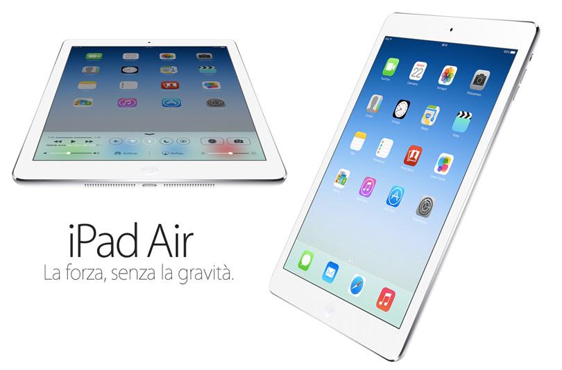 iPad Air: la forza, senza la gravità
