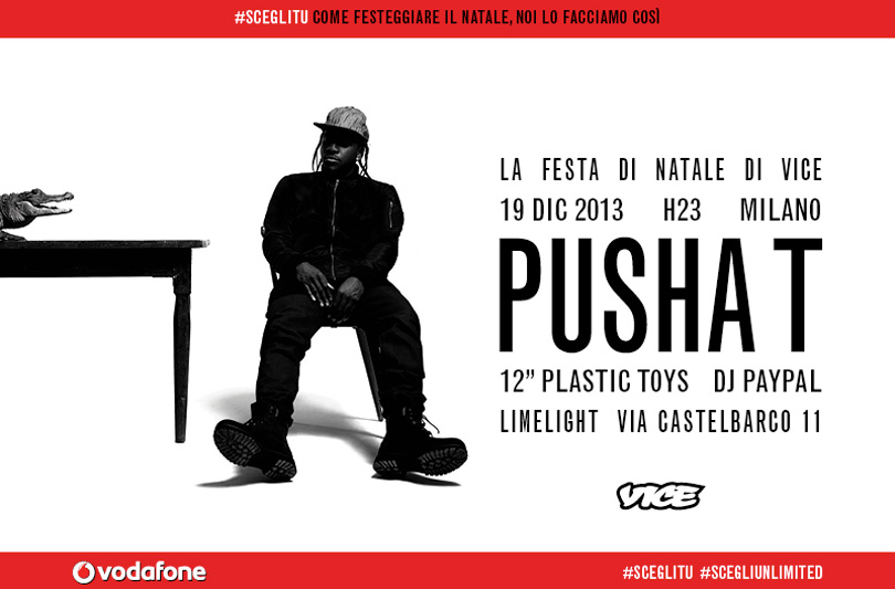 Il 19 Dicembre Vice vi invita a Milano al super party von protagonista Pusha T