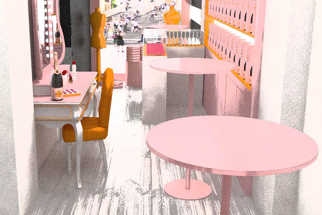 Per San Valentino inaugura a Roma il primo temporary champagne Veuve Clicquot e make up bar Dior