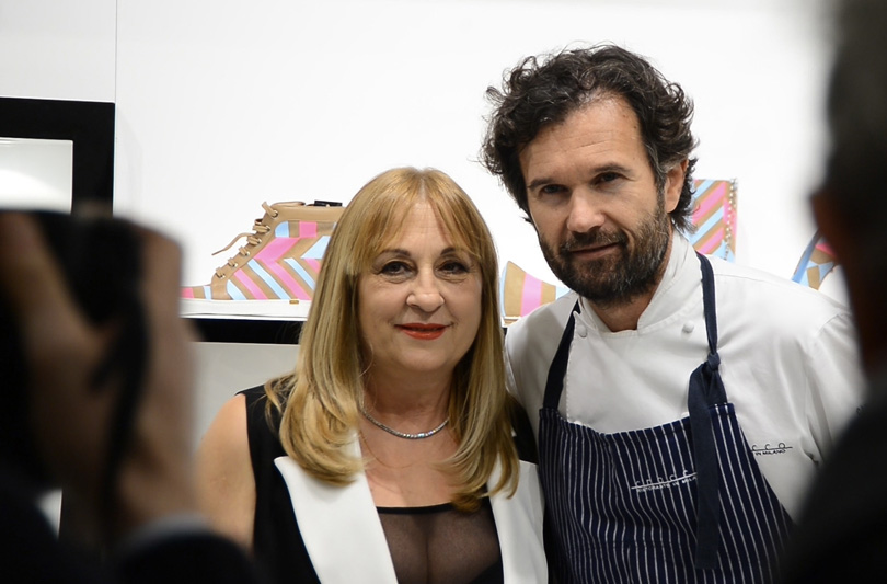 Carlo Cracco super ospite al party di LORIBLU durante la Milano Fashion Week