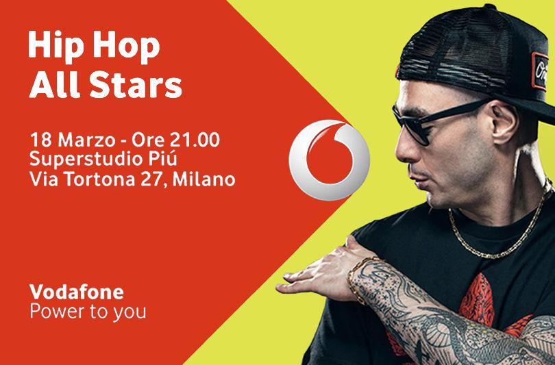 Vodafone All Stars: gli 8 rappers del momento gratis il 18 Marzo a Milano