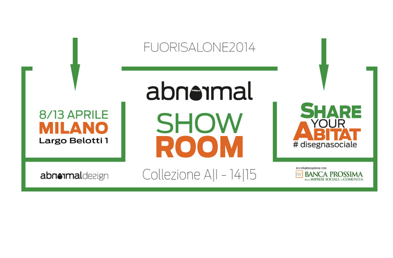 SHARE YOUR ABITAT#DISEGNA SOCIALE! Al Salone del Mobile sbarca Abnormal