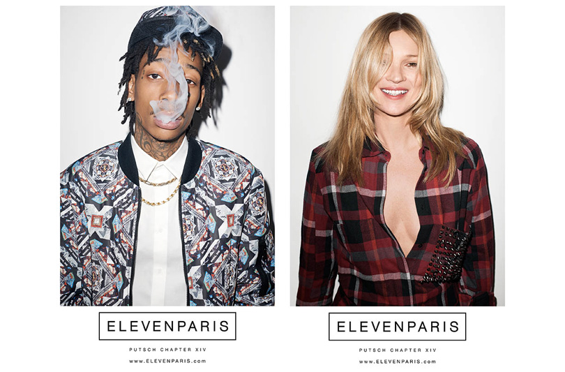 ELEVENPARIS FALL WINTER 14/15 : KATE MOSS + WIZ KHALIFA