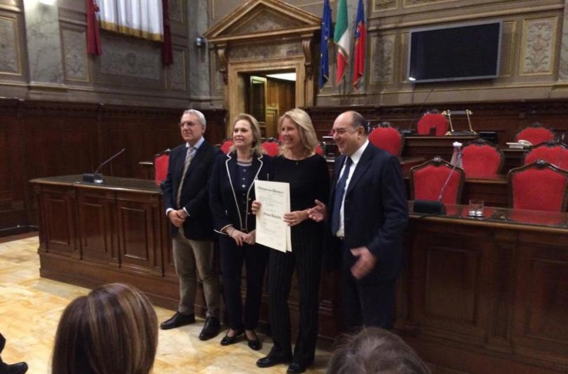 Fabiana Balestra riceve l'onorificenza di Cavaliere al Merito