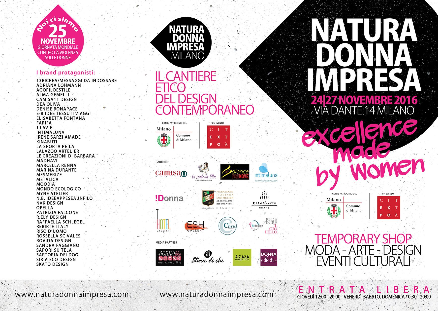 Natura Donna Impresa: dal 24 al 27 novembre a Milano