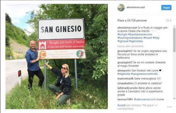 Alessia Marcuzzi & Rudy Zerbi_San Ginesio_arrivo