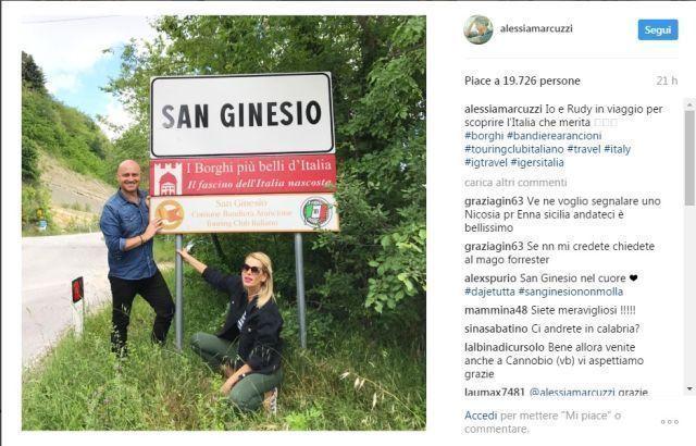 Alessia Marcuzzi e Rudy Zerbi a Visso e San Genasio