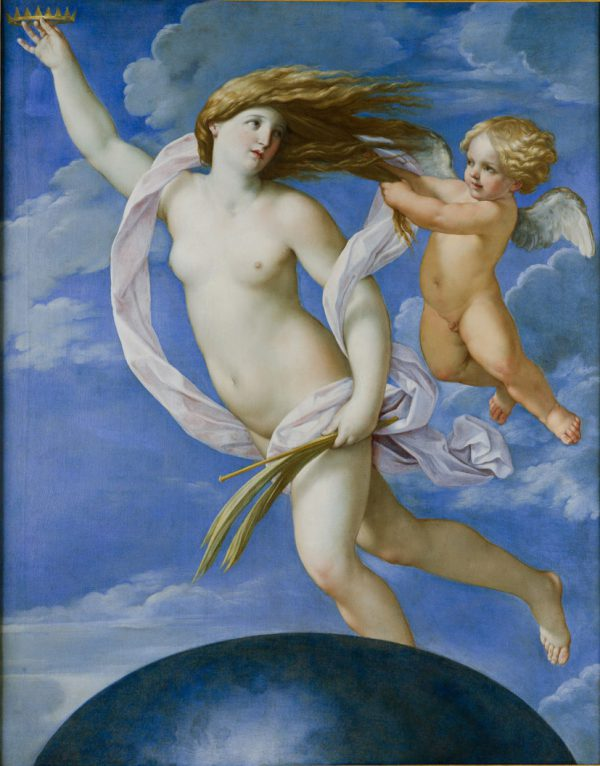 GUIDO RENI, La Fortuna, olio su tela, 1637 ca., 165x135 cm Accademia Nazionale di San Luca, Roma
