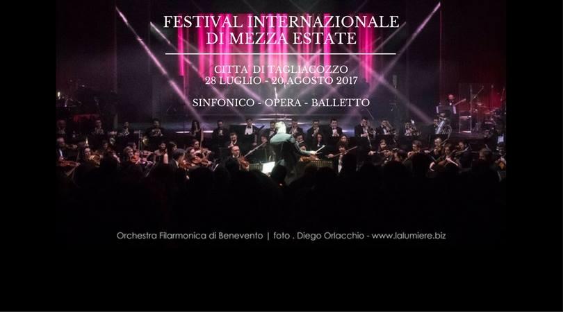 Il Festival di Mezza Estate di Tagliacozzo giunge alla XXXIII Edizione