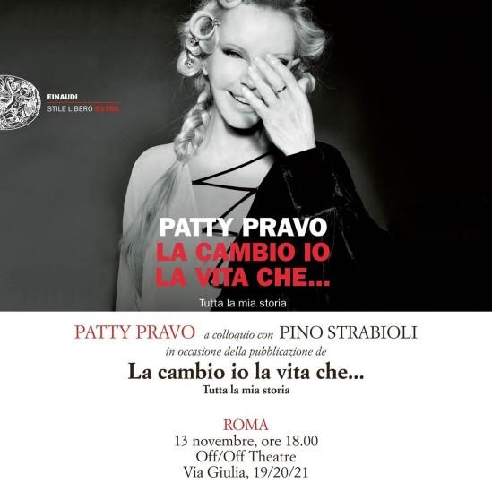 """Patty Pravo presenta il libro """"La Cambio Io La Vita Che…"""""""