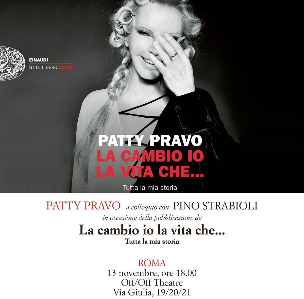 """Patty Pravo presenta il libro """"La Cambio Io La Vita Che..."""""""