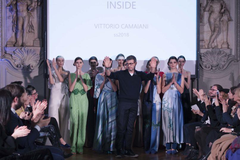 Vittorio Camaiani sfila nella Coffee House di Palazzo Colonna