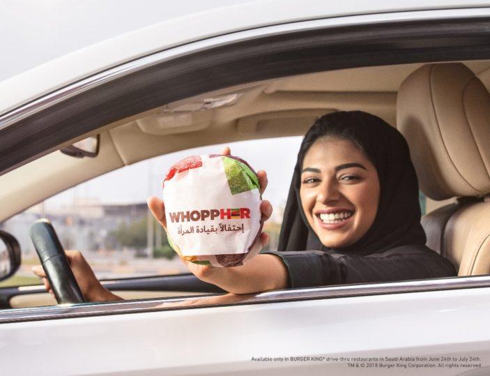 BURGER KING® celebra le donne al volante dell'Arabia Saudita con il Whoppher