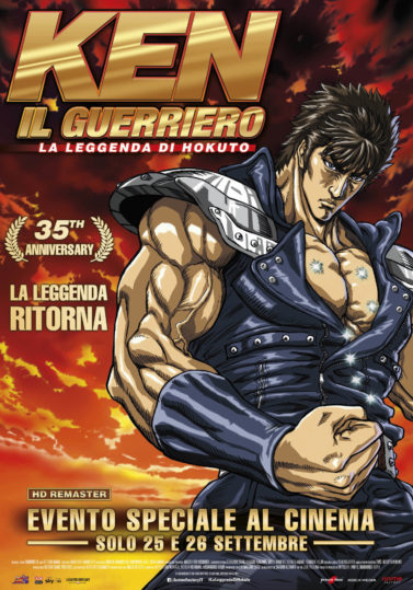 Ken Il Guerriero – La leggenda di Hokuto al cinema il 25  e 26 settembre