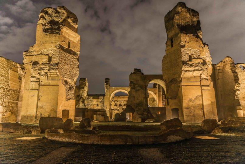 Terme di Caracalla: partono le visite guidate notturne